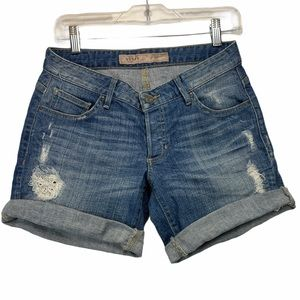 Guess Distressed Jean Shorts Size 24